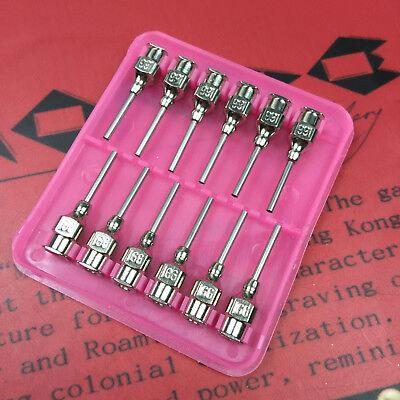 Blunt Stainless Steel Dispensing Syringe Needle Tip Luer Lock 16 - 25 Gauge