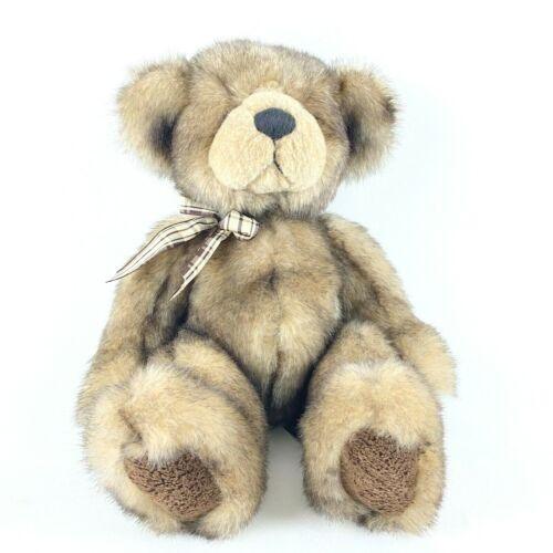 "Russ Berrie CAPPUCCINO Teddy Bear Plush 14"" Brown Cream Stuffed Animal"