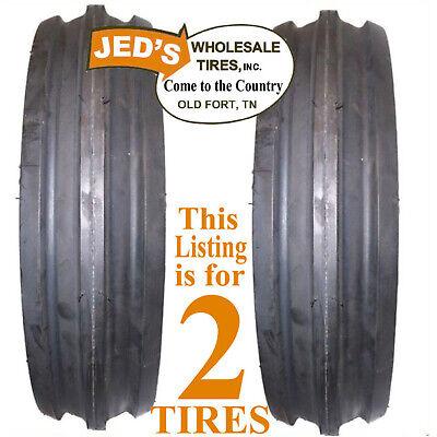 2 5.00-15 500-15 5.00x15 500x15 F-2 Front Tires Farm Tractor Tri Rib Ds5120
