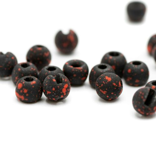 Firehole Outdoors Speckled Stones - Tungsten Fly Tying Beads - Round or Slotted