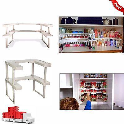 NEW Kitchen RV Shelf Spice Jar Rack Stackable Organizer Storage Cabinet Cupboard