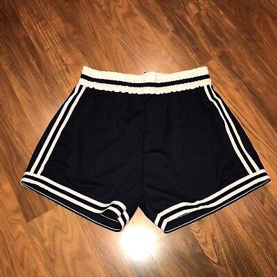 NEW Vtg 70s NAVY Uniform MEDIUM Track jersey gym Basketball shorts Made in USA