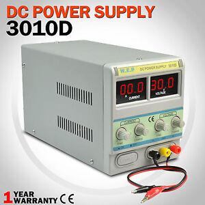 30V 10A DC Power Supply Digital Display Variable Adjustable Lab Grade Mode New