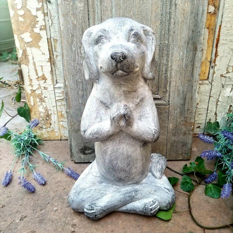 Magnesium Labrador Yoga Dog Figurine Garden Decor Statue