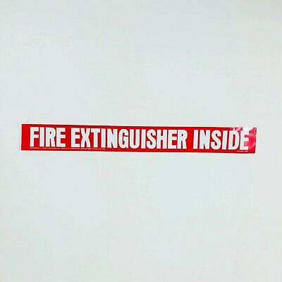Jj Keller 1072 Fire Extinguisher Inside Sign Vinyl 18x 2