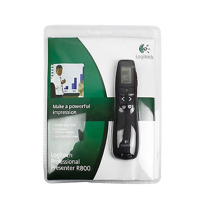 NEW Logitech Professional Presenter R800 Wireless Green Laser Pointer PPT