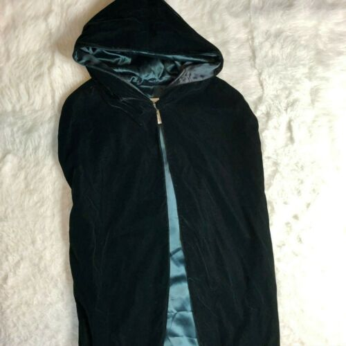 Vintage Green Velvet Jessica McClintock Gunne Sax Cape One Size Halloween J2Y