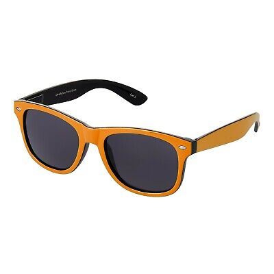 Erwachsene Schwarz und Orange Dawn Sonnenbrille Herren Damen UV400 Retro Classic