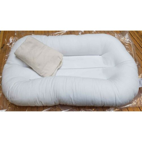 Snuggle Me ORIGINAL Baby Lounger with Organic Natural Cover - Customer Return
