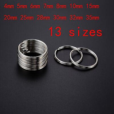 Wholesale 4~35mm Key Rings Chains Split Ring Hoop Metal Loop Accessory - Accessory Wholesale