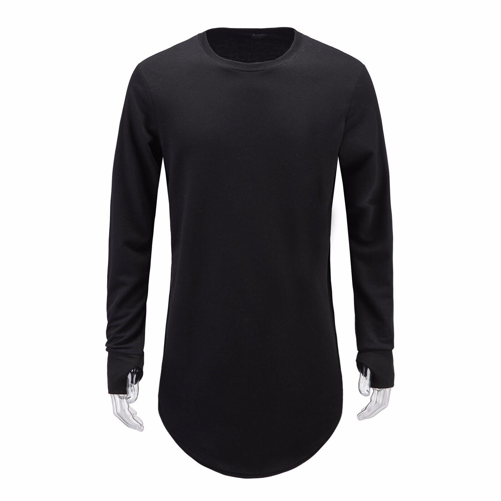 Hipster Mens Thumb Hole Cuffs Long Sleeve T Shirt Basic