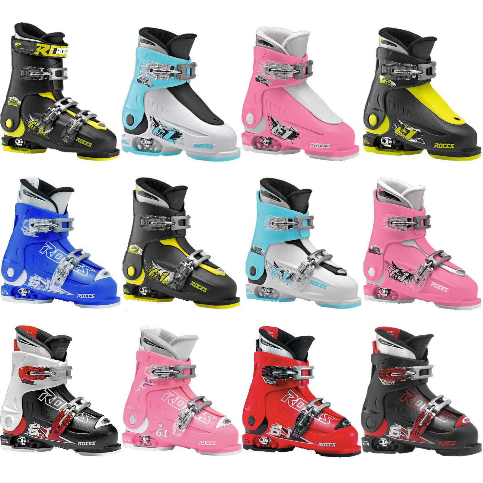 Roces Idea Up | Free 6 in 1 Kinder Skistiefel Skischuhe Größenverstellbar NEU