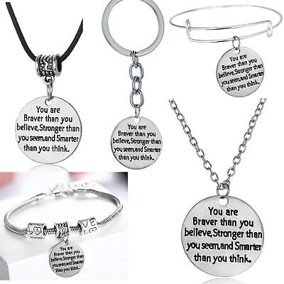 Inspirational Gifts For Her Him Best Friends Women Men Silver Necklace