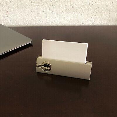 Matte Business Card Holder For Desk - Business Card Display - Office Desk Nib