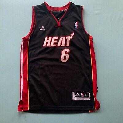 Adidas Youth NBA Miami Heat #6 LeBron James Jersey Black XL