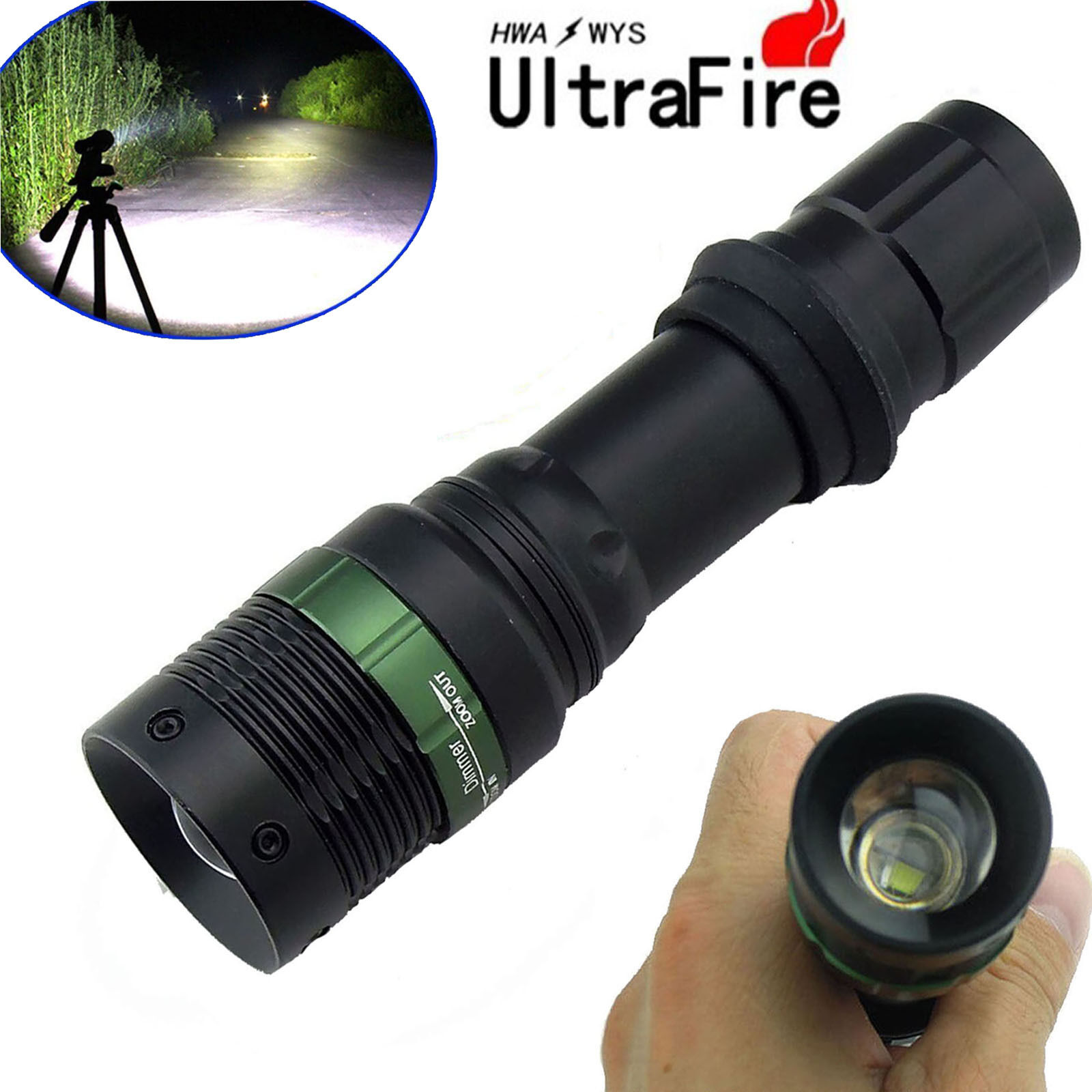 Купить Ultrafire CREE XM-L T6 Zoomable 6000 Lumen Tactical LED Flashlight Torch Lamp