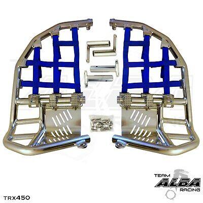 Yamaha Blaster YFS 200  Nerf Bars  Pro Peg  Alba Racing   Silver Blue  212 T7 SL