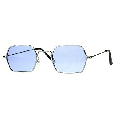 Rectangular Hexagon Shape Sunglasses Indie Style Thin Metal Frame Color (Indie Sunglasses)