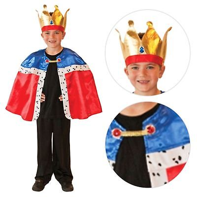 Kids Unisex Royal Wedding King Queen Cape Crown Prince Harry Fancy Dress Costume](Prince Dress Up Costume)