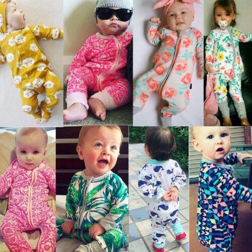 Neugeborene Baby Jungen Mädchen Strampler Body Overall Kinder Kleinkind Kleidung