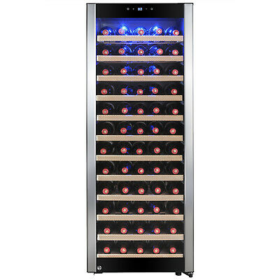 80 Bottle Single Zone Adjustable Compressor Freestanding Wine Cooler Refrigerate