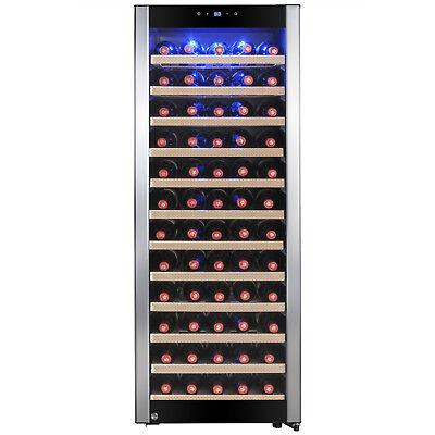 80 Bottle Single Zone Adjustable Compressor Freestanding Wine Cooler Refrigerate