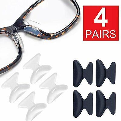 4 Pairs Anti-slip silicone Stick On Nose Pads For Eyeglasses Sunglasses Glasses Health & Beauty