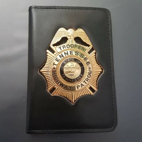Obsolete Police Badge: TENNESSEE HIGHWAY PATROL TROOPET with cut-out Wallet