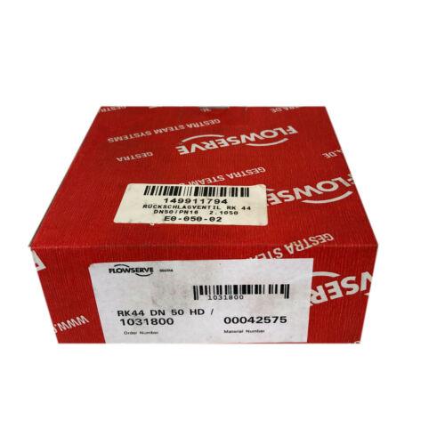 Gestra Flowserve Rk44 Dn 50 HD 00042575 Check Valve