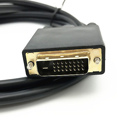 6 Feet Gold Plated DisplayPort DP to DVI-D Male Dual Link Cable Adapter 1080p Computer Cables & Connectors