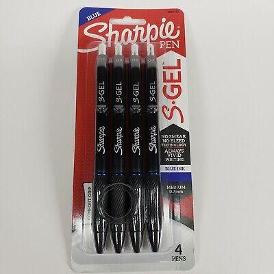 4 Sharpie S-gel Retractable Pens Blue Ink 0.7mm Medium Point