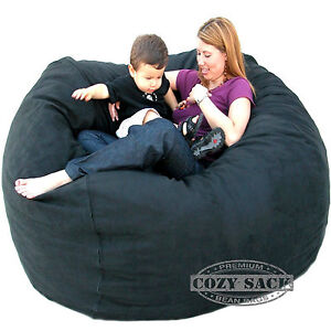 Bean Bag Chair Love Seat By Cozy Sac 5' Micro Suede Huge