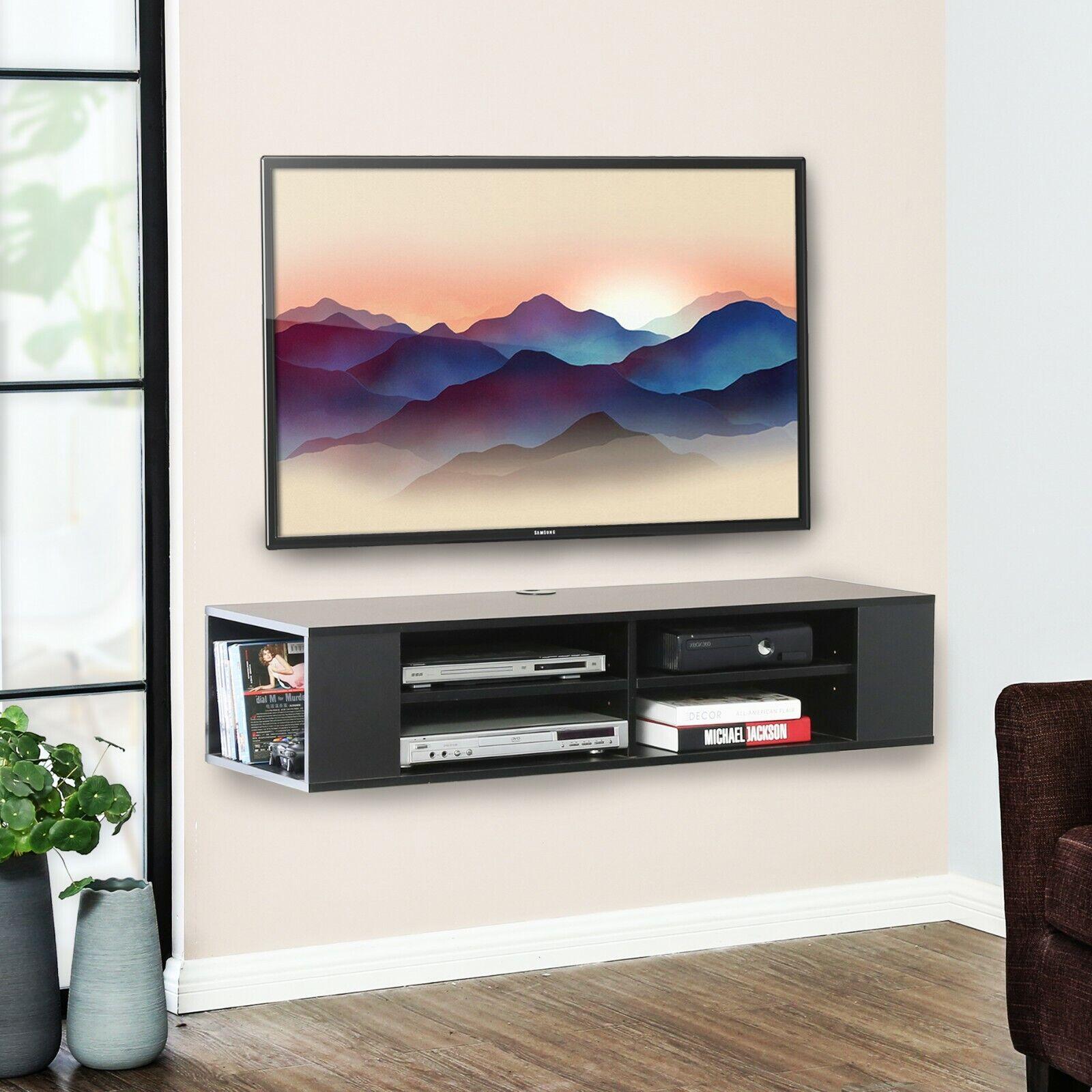 FITUEYES Universal Wall Mount Media/AV Console,Floating TV S