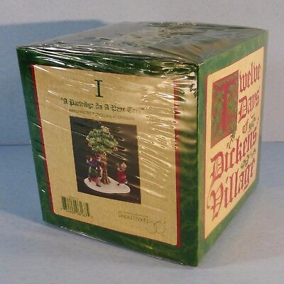 """Dept 56 Dickens Village 12 Days of Christmas: """"A PARTRIDGE IN A PEAR TREE"""" NEW"""