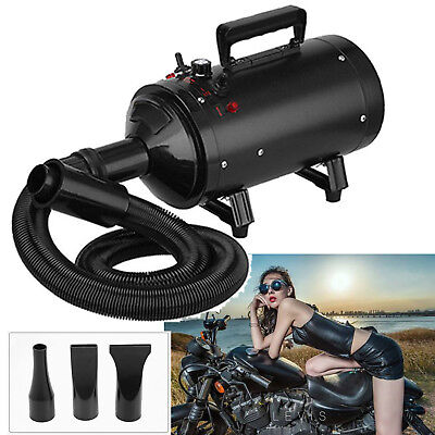 Air Force Blaster Dryer Compact Car Motorcycle Duster Metro Heater w/ 3 Nozzles