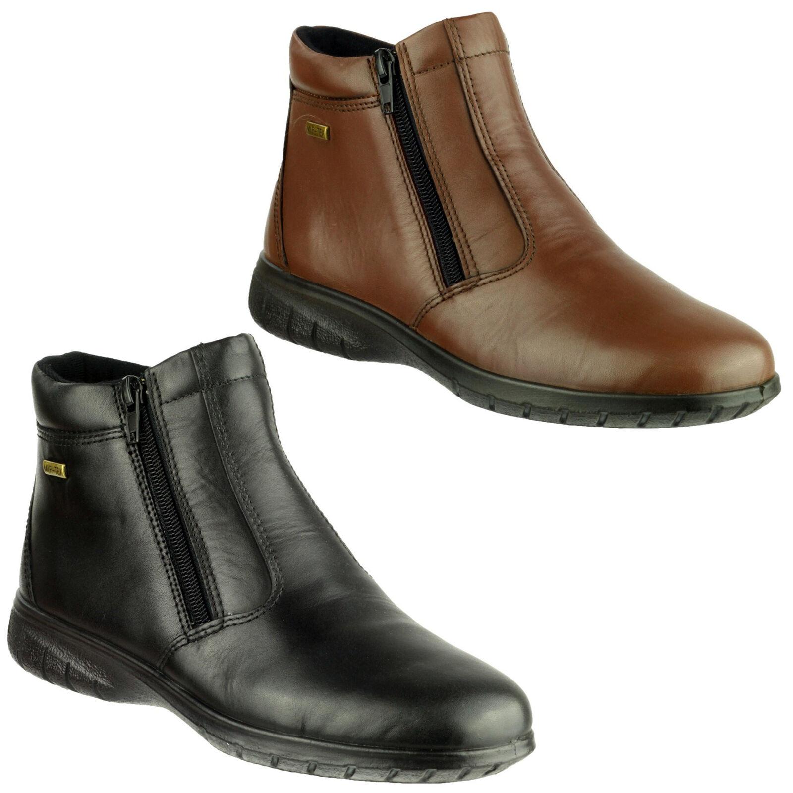 Cotswold DEERHURST Womens Ladies Waterproof Comfy Warm Soft Twin Zip Boots Black