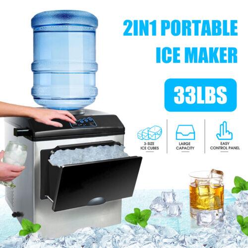 Electric 5 Gallon Water Dispenser Built-In Ice Maker Machine