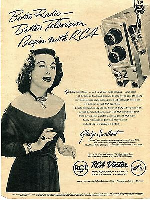 1945 Print Ad of RCA Victor Gladys Swarthout Better Radio Better