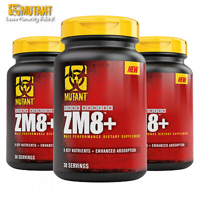 ZM8+ Testosterone Booster Magnesium Vitamin B6 Mineral Anabolic ZMA (Best Muscle Building Testosterone Booster)