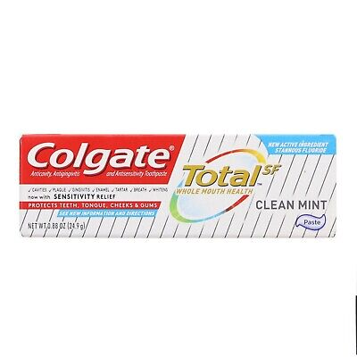 Colgate Total Clean Mint Toothpaste 0.88 oz (Pack of (Colgate Total Clean Mint)