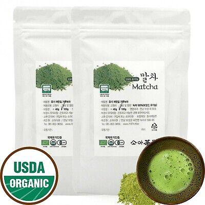 Korean Organic Matcha 200g(100g x 2 ea) delicate Leaf Organic Green Tea Powder