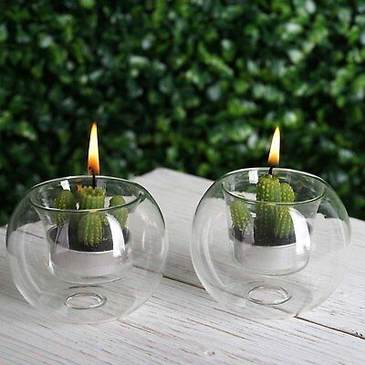 12 pcs Clear Glass Globe Votive Candle Holders for Wedding Party - Glass Votive Holders