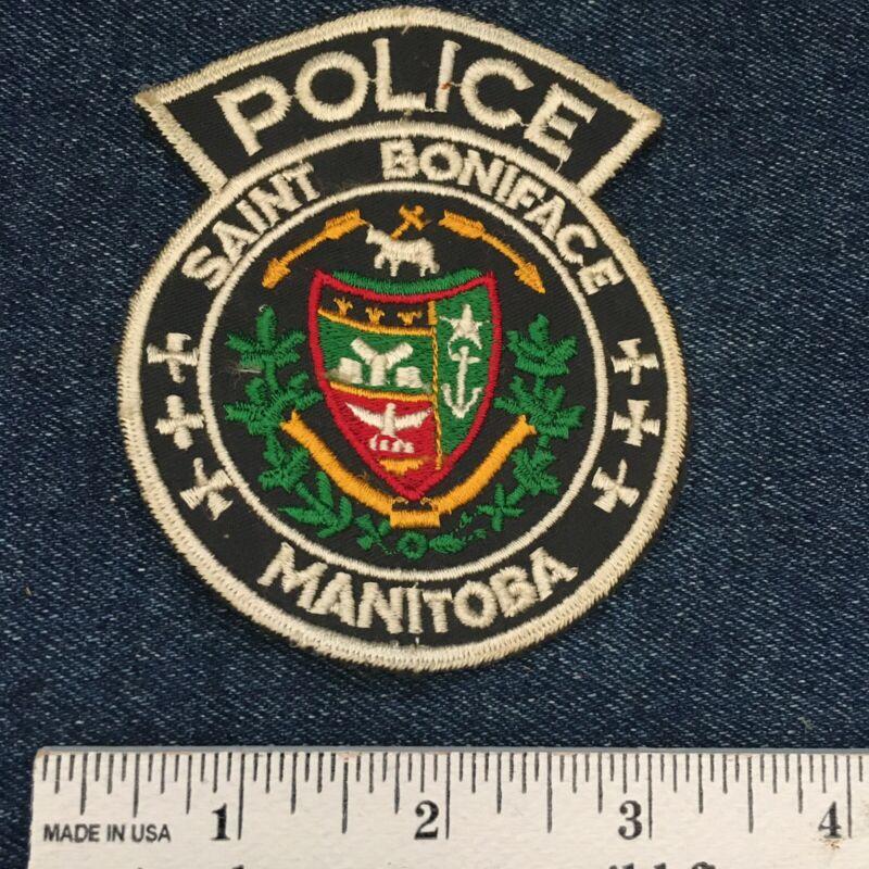 Vintage Saint Boniface Manitoba Police Embroidered Patch Badge