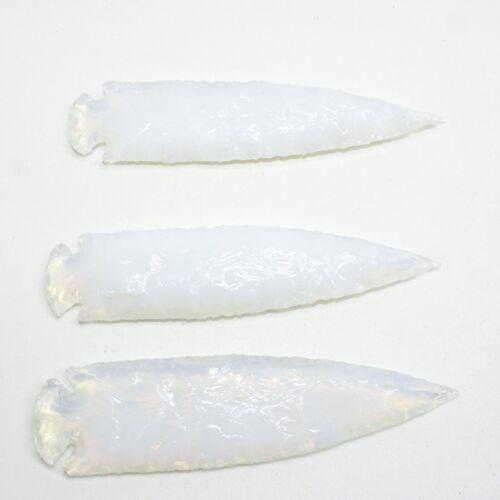 3 Opalite Ornamental Spearheads  #3710  Arrowhead