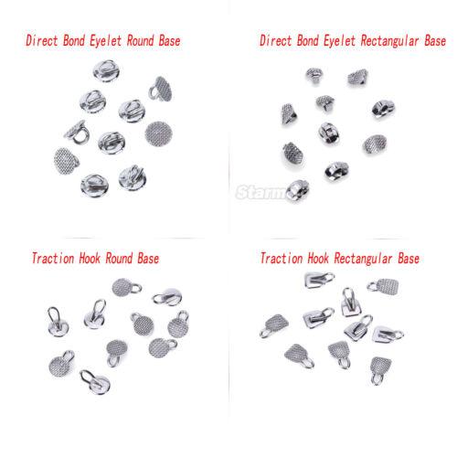 4 Type Dental Orthodontic Lingual Buttons Bondable Round Mesh Base 10pcs/pack
