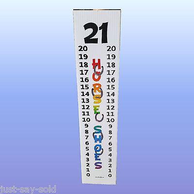 Horseshoe Scoreboard Score Keeper - Full Color Laminated