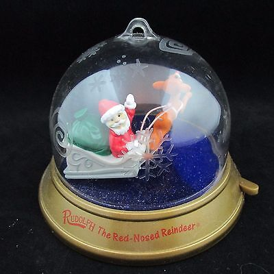 Blockbuster Whirl Around Christmas Ornament 1999 Rudolph the Red Nosed Reindeer