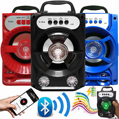 Portable Outdoor Super Bass Stereo Wireless Bluetooth Speaker w/ USB/TF/FM Radio