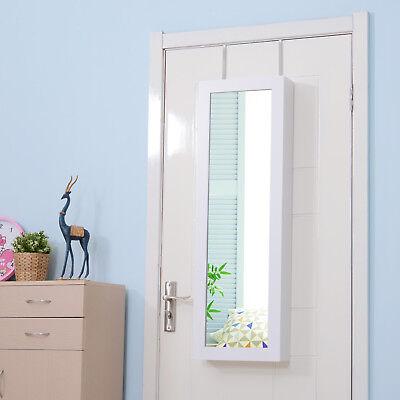 HOMCOM Hängender Schmuckschrank Spiegelschrank Tür-/Wandspiegel höhenverstellbar ()