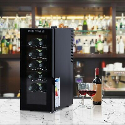 12 Bottle Wine Cooler Fridge Refrigerator Mini Bar Touch Control 11-18°C